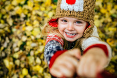 Daugher smile in camera Royalty Free Stock Photography