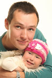 Daughter. Young father with little baby Royalty Free Stock Image