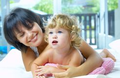 With daughter Royalty Free Stock Image
