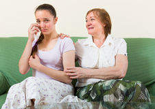 Daughter against mother after conflict Stock Photography