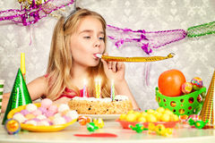 Daughter birthday Stock Images