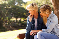 daughter comforting mother Royalty Free Stock Photos