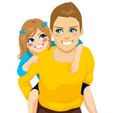 Daughter And Dad Piggyback Ride Royalty Free Stock Photo