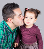 Daughter with daddy Royalty Free Stock Photos