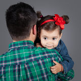Daughter with daddy Royalty Free Stock Images