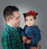 Daughter with daddy Stock Image