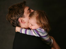 Daughter and father Stock Image