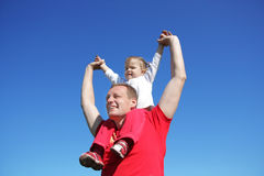 daughter father plays Στοκ εικόνες με δικαίωμα ελεύθερης χρήσης