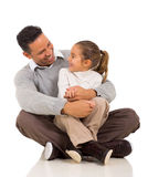 Daughter father's lap Royalty Free Stock Photography