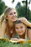 daughter funny mom smiling στοκ φωτογραφία με δικαίωμα ελεύθερης χρήσης