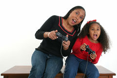 daughter games mother video Στοκ εικόνα με δικαίωμα ελεύθερης χρήσης