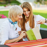 Daughter with her mother Royalty Free Stock Images