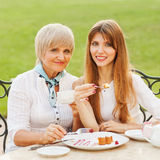 Daughter with her mother Royalty Free Stock Image