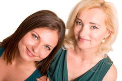 Daughter and her mother Stock Photos
