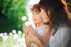Daughter with her mother Royalty Free Stock Photo