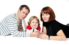 Daughter and her parents Stock Photos
