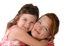 Daughter hugging her Mother Royalty Free Stock Photos