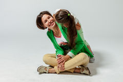 Daughter hugging her mother Royalty Free Stock Photo