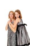 Daughter hugging mom. Royalty Free Stock Photos
