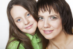 Daughter Hugging Mother Royalty Free Stock Photo