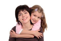 Daughter Hugging Mother Stock Photos