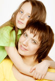 Daughter Hugging Mother. This image has attached release Royalty Free Stock Photos