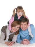 Daughter joins family Royalty Free Stock Photos