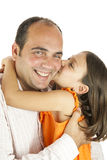 Daughter loves daddy Royalty Free Stock Photos
