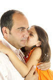 Daughter loves daddy Stock Photos
