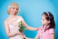 Daughter and mother stock photography