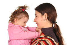 Daughter and mother Royalty Free Stock Photo