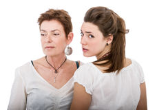 Daughter and mother distances Royalty Free Stock Images