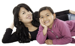 They are daughter and mother Royalty Free Stock Image
