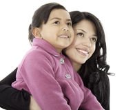 They are daughter and mother Royalty Free Stock Photos
