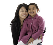 They are daughter and mother Stock Photo