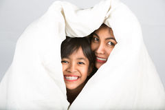 Daughter and mother are happy together Stock Photo