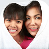Daughter and mother Stock Photos