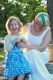 Daughter and mother having fun Stock Photography
