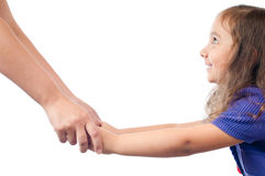 Daughter and mother holding hands Royalty Free Stock Photo