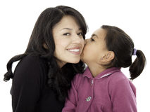 They are daughter and mother Royalty Free Stock Photo