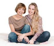 Daughter and mother Stock Photo
