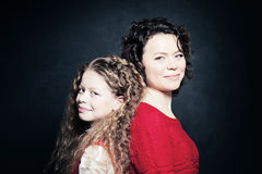 Daughter and Mother Smiling Royalty Free Stock Photo