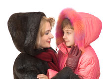 Daughter with mum Royalty Free Stock Images