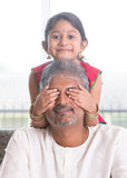 Daughter playing with father Stock Photography