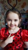 daughter pose Royalty Free Stock Image