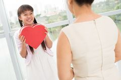 Heart present Stock Photo