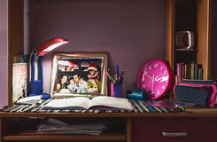 Daughter's Desk Royalty Free Stock Photo
