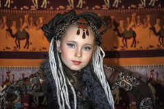 Daughter of the shaman of the tribe Royalty Free Stock Images