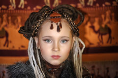 Daughter of the shaman of the tribe Stock Photos