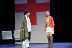 Daughter talk-Jiangxi OperaBlue coat Royalty Free Stock Photos